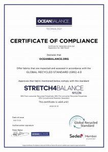Certificate of Compliance- Stretch4BalanceNylon