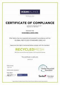 Certificate of compliance- RecycledMesh