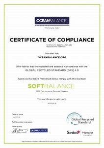 Certificate of compliance- SoftBalance