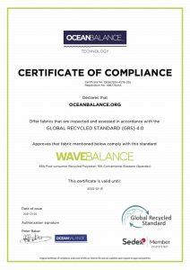 Certificate of compliance- WaveBalance