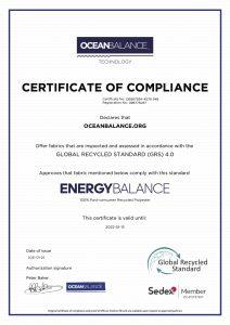 Certificate of Compliance- EnergyBalance