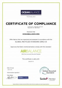 Certificate of compliance- AirBalance