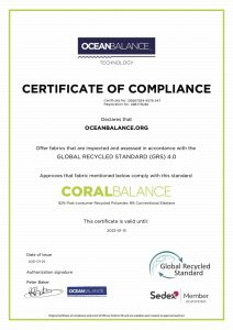 Certificate of compliance- CoralBalance