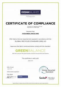 Certificate of compliance- GreenBalance